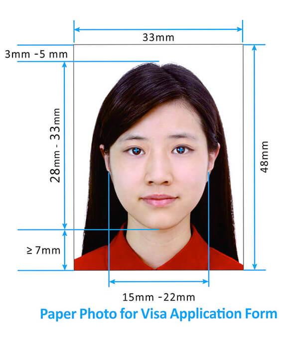 Требования для фото на визу в Китай