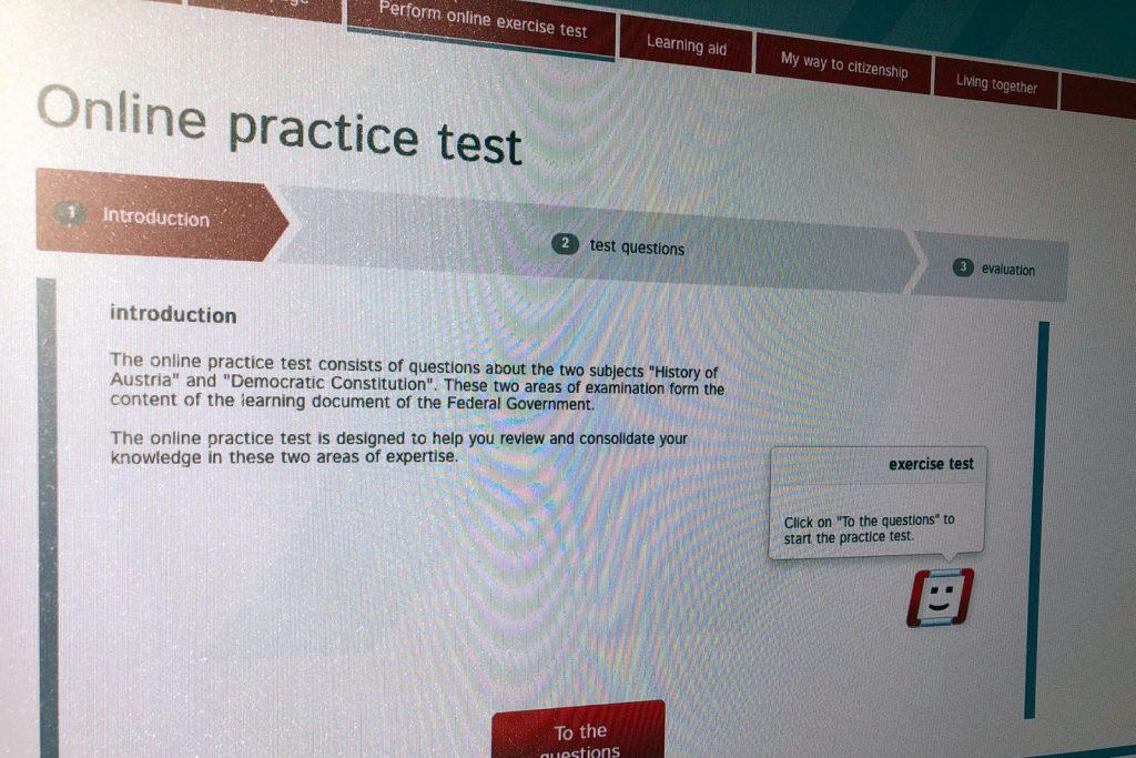 Сдача теста на знание языка
